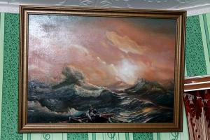 –оссоны, ¬иктор √олубев, художник, море