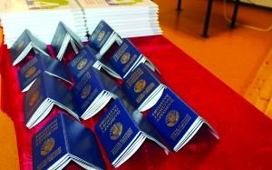 –оссоны, вручение паспортов,
